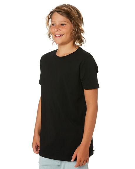 BLACK KIDS BOYS AS COLOUR TOPS - 3006-BLK
