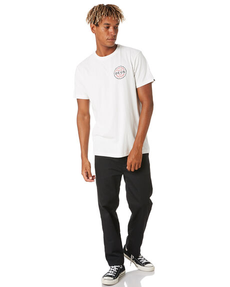 VINTAGE WHITE MENS CLOTHING DEUS EX MACHINA TEES - DMP201379CVNTWH