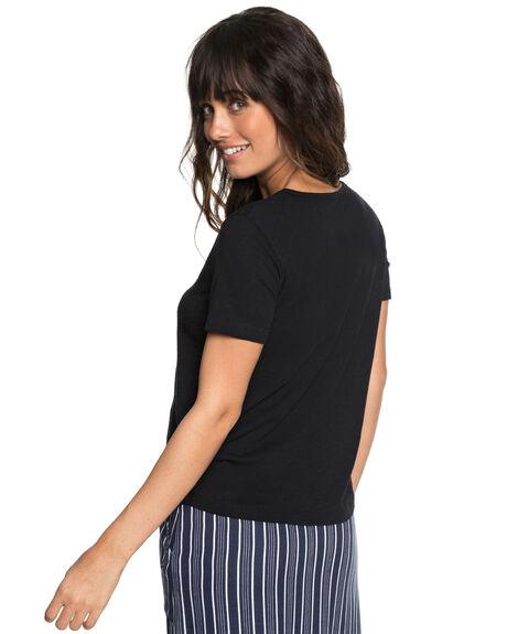 TRUE BLACK WOMENS CLOTHING ROXY TEES - ERJZT04349KVJ0