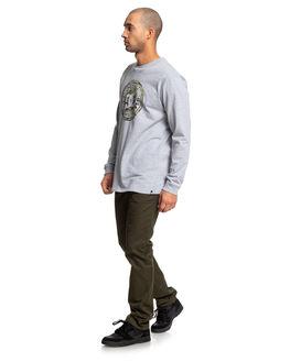 GREY HEATHER/CAMO MENS CLOTHING DC SHOES TEES - UDYZT03657-XSSC