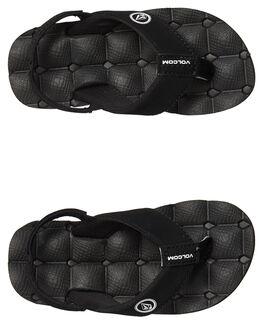 BLACK WHITE KIDS BOYS VOLCOM FOOTWEAR - U0811520BWH