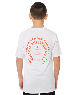 WHITE KIDS BOYS VOLCOM TOPS - C5041872WHT