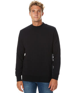BLACK MENS CLOTHING ASSEMBLY JUMPERS - ASW-W1614BLK