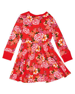 RED KIDS GIRLS ROCK YOUR KID DRESSES + PLAYSUITS - TGD1959-TJRED