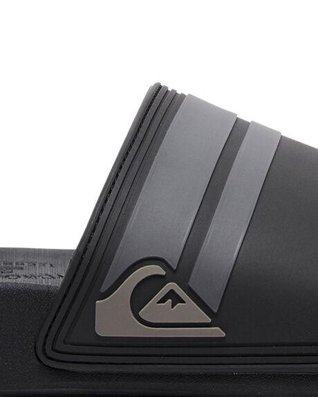 BLACK/BLACK/GREY MENS FOOTWEAR QUIKSILVER SLIDES - AQYL100867-XKKS