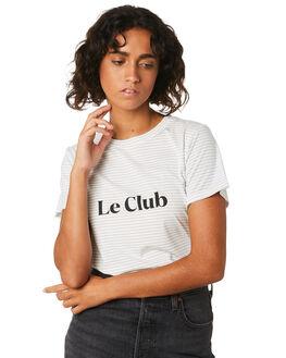 WHITE STRIPE WOMENS CLOTHING COOLS CLUB TEES - 102-CW2WHTS