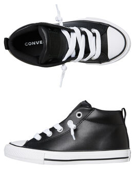 BLACK KIDS BOYS CONVERSE SNEAKERS - 663835CBLK