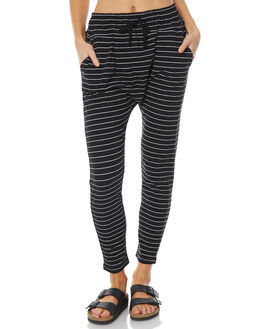 BLACK WHITE STRIPE WOMENS CLOTHING BETTY BASICS PANTS - BB284W17BKLWH