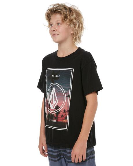 BLACK KIDS BOYS VOLCOM TEES - C35417T4BLK