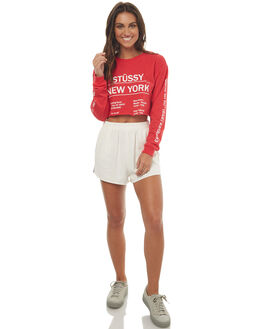 RED WOMENS CLOTHING STUSSY TEES - ST172041RED