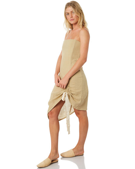 OLIVE WOMENS CLOTHING ZULU AND ZEPHYR DRESSES - ZZ2181OLI