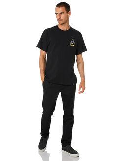 BLACK MENS CLOTHING HUF TEES - TS01315-BLK