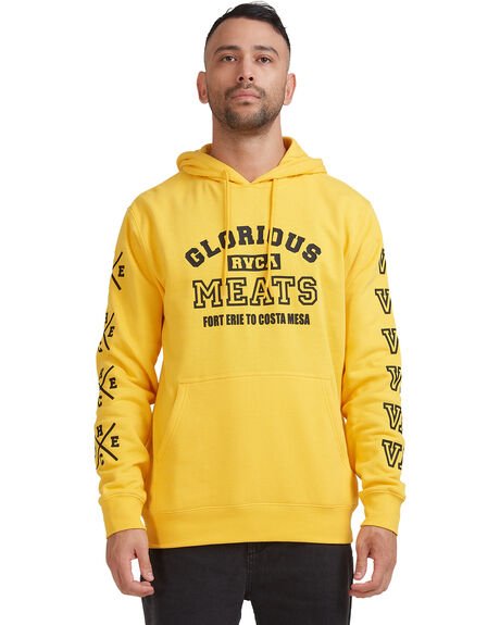 GOLD MENS CLOTHING RVCA HOODIES + SWEATS - R315153-G20
