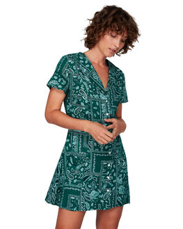 EVERGREEN WOMENS CLOTHING RVCA DRESSES - RV-R292757-E22
