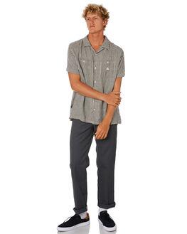 BLACK MENS CLOTHING STUSSY SHIRTS - ST005406BLK