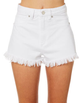 WHITE WASH WOMENS CLOTHING A.BRAND SHORTS - 71366-3783
