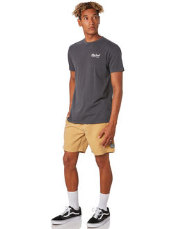 WASHED BLACK MENS CLOTHING RIP CURL TEES - CTEVO28264