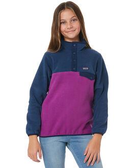 IKAT PURPLE BLUE KIDS GIRLS PATAGONIA JUMPERS + JACKETS - 65546IPST