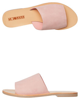 BUBBLEGUM SUEDE WOMENS FOOTWEAR SOL SANA FASHION SANDALS - SS182S401BGUM