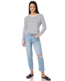 NAVY STRIPE WOMENS CLOTHING ELWOOD TEES - W83110-JF6