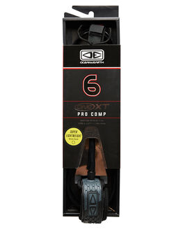 BLACK BOARDSPORTS SURF OCEAN AND EARTH LEASHES - LL60XTBLK