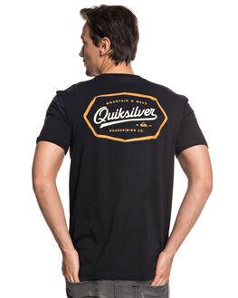 BLACK MENS CLOTHING QUIKSILVER TEES - EQYZT04945KVJ0