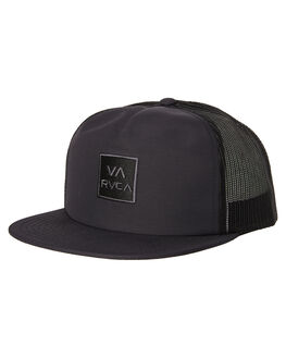 BLACK MENS ACCESSORIES RVCA HEADWEAR - R381569BLK