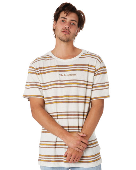 DIRTY WHITE MENS CLOTHING THRILLS TEES - TS9-135ADTWHT