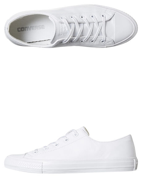 a38eb3c79fce Converse Womens Chuck Taylor All Star Gemma Leather Shoe - White ...