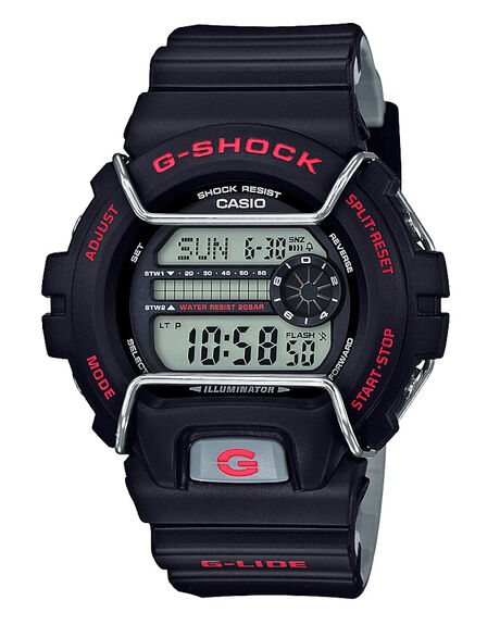 BLACK MENS ACCESSORIES G SHOCK WATCHES - GLS6900-1DBLK
