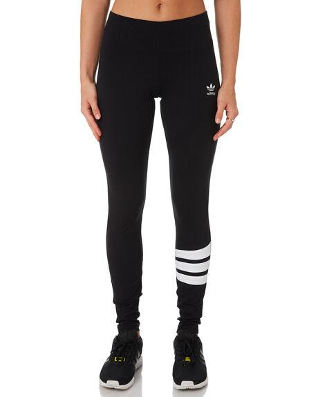 BLACK WHITE WOMENS CLOTHING ADIDAS ACTIVEWEAR - DU9597BLK
