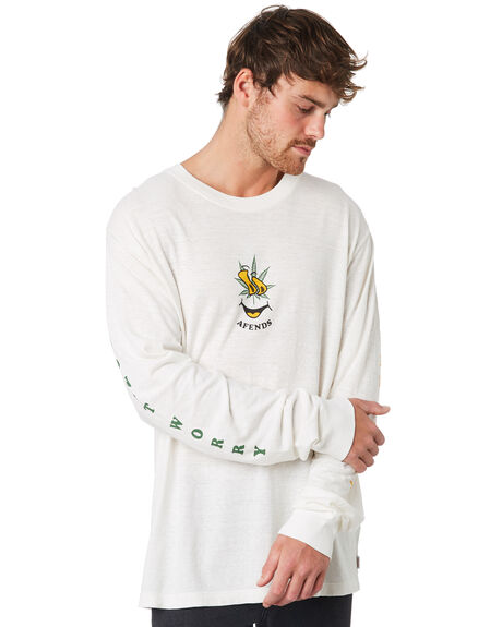 WHITE MENS CLOTHING AFENDS TEES - M191063WHT