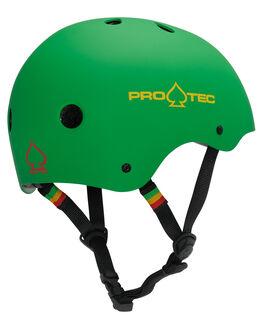 RASTA GREEN BOARDSPORTS SKATE PRO TEC ACCESSORIES - 1150131RGRN