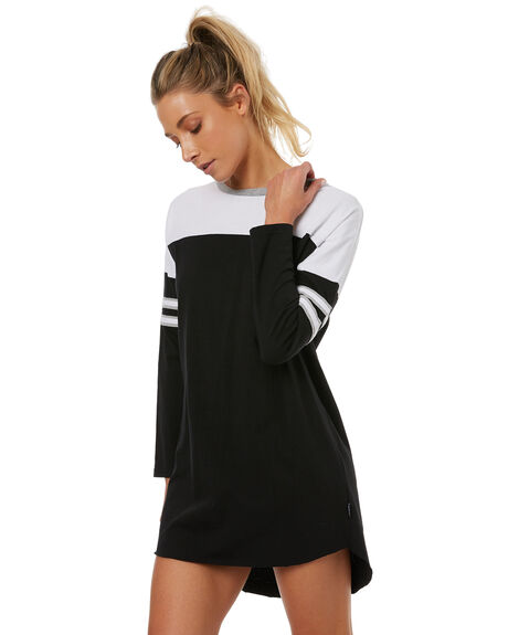 BLACK WOMENS CLOTHING RUSTY DRESSES - DRL0904BLK
