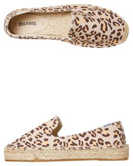 LEOPARD WOMENS FOOTWEAR SOLUDOS FLATS - 1000604-211LEOP