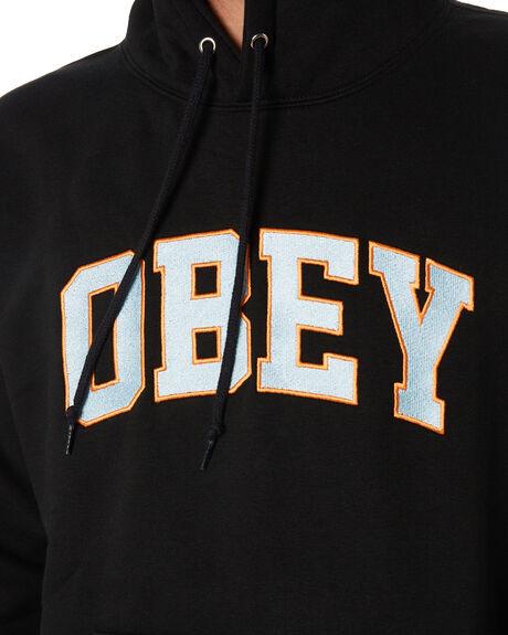 BLACK MENS CLOTHING OBEY JUMPERS - 112470083BLK