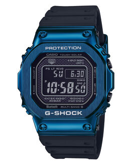 BLACK BLUE MENS ACCESSORIES G SHOCK WATCHES - GMWB5000G-2DBLKBL