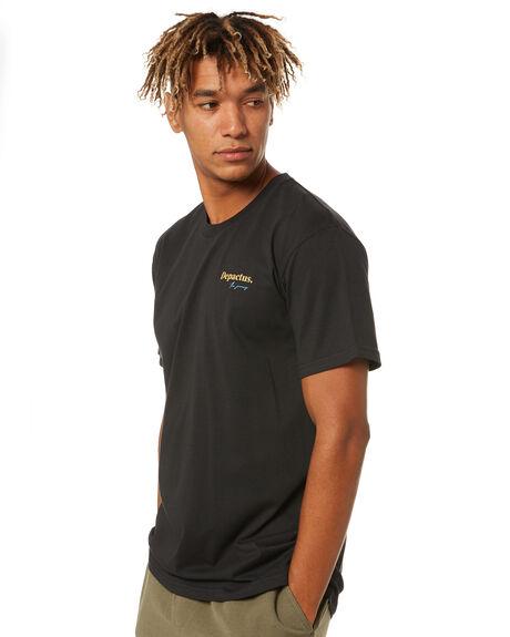 BLACK MENS CLOTHING DEPACTUS TEES - D5213001BLK