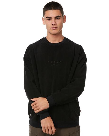 BLACK MENS CLOTHING GLOBE JUMPERS - GB01833017BLK