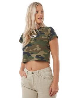 CAMO WOMENS CLOTHING STUSSY TEES - ST185105CAMO