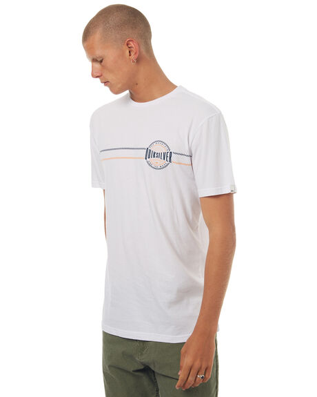 WHITE MENS CLOTHING QUIKSILVER TEES - EQYZT04568WBB0