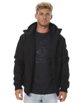 BLACK MENS CLOTHING VOLCOM JACKETS - A1711700BLK