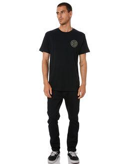 BLACK MENS CLOTHING DEUS EX MACHINA TEES - DMA201565BBLK