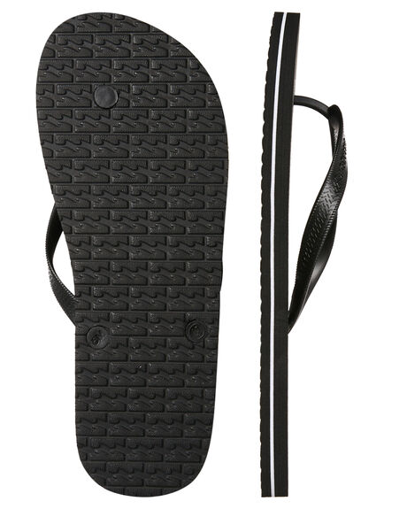 BLACK MENS FOOTWEAR BILLABONG THONGS - 9685938BLK