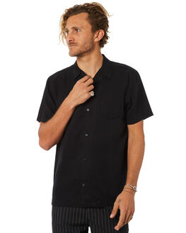 BLACK MENS CLOTHING NO NEWS SHIRTS - N5184168BLACK