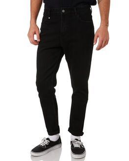 BLACK MENS CLOTHING THRILLS JEANS - TDP-418BBLK