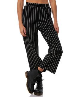 BLACK WHITE STRIPE WOMENS CLOTHING STUSSY PANTS - ST181600STRIP
