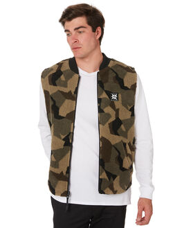 CAMOUFLAGE MENS CLOTHING VOLCOM JACKETS - A1831950CAM