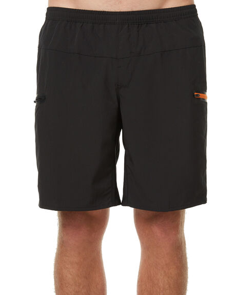 BLACK MENS CLOTHING OURCASTE BOARDSHORTS - B1007BLK