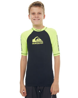 SAFETY YELLOW BLACK SURF RASHVESTS QUIKSILVER BOYS - EQBWR03039XGGK